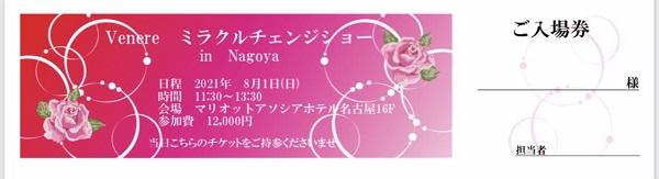 ミラクルチェンジショーin 名古屋のチケット表